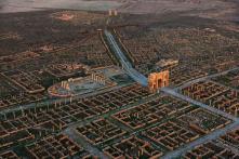 Le rovine di una colonia romana in Africa