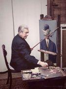 René Magritte al lavoro,1964