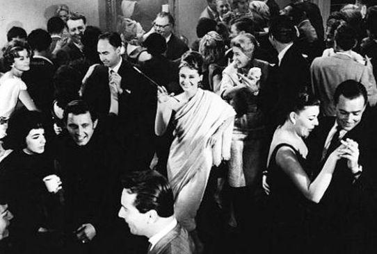 Audrey Hepburn a un party di Capodanno