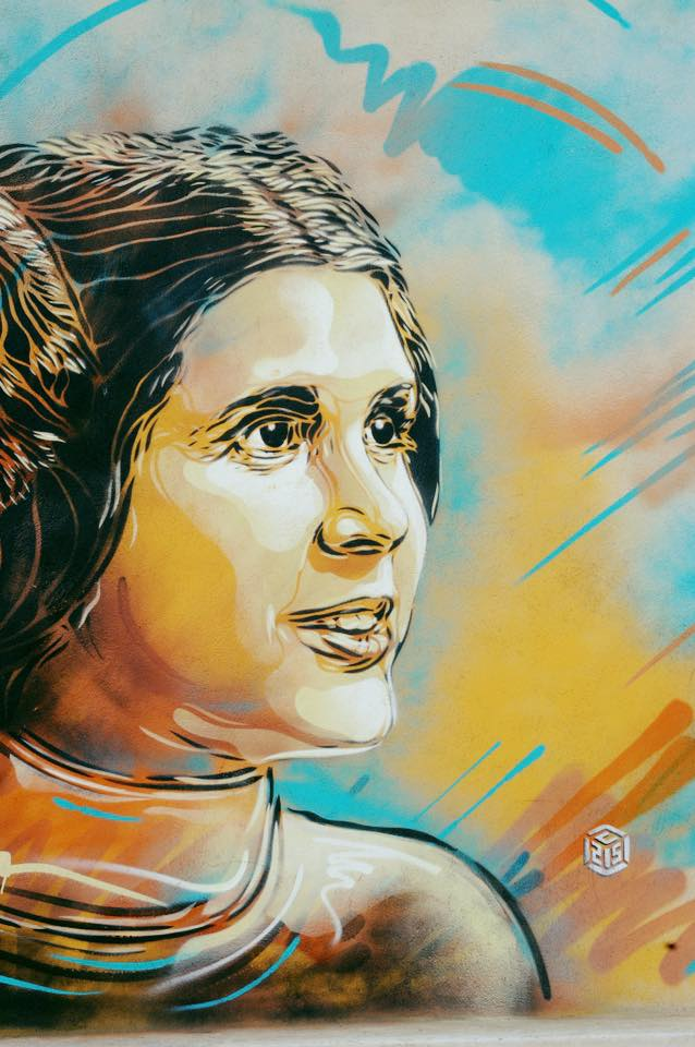 Carrie Fisher by C215