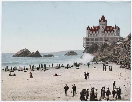 Circa 1902. The Cliff House a San Francisco