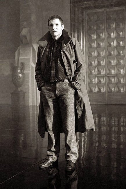 Harrison Ford in Blade Runner, 1982