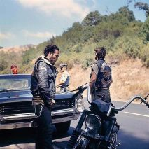Hells Angels, Traffic Stop, California, circa 1960, by Hunter S. Thompson