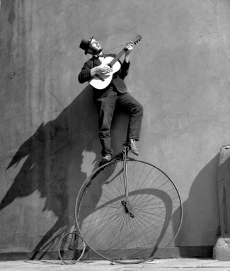 Ken Russell - Troubadour: the Penny Farthing Bicycle, 1956