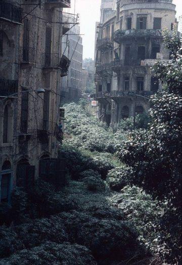 La zona di demarcazione Linea Verde, Beirut, Libano 1982