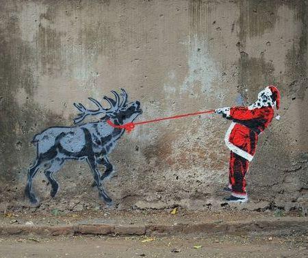 Street art: Babbo Natale