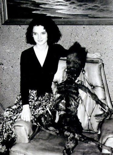 Winona Ryder sul set di Beetlejuice 1988