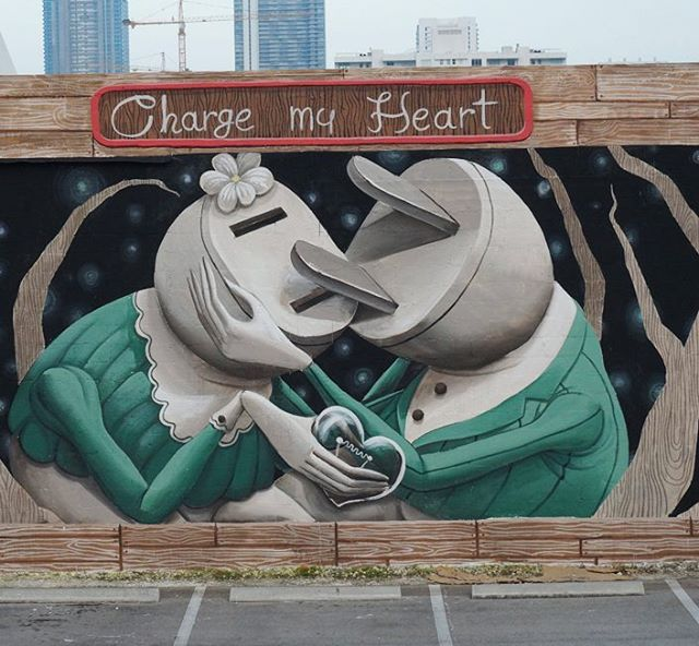 """Charge my heart"" by Zed1 @Miami, USA"
