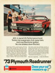 1973 Pubblicità Plymouth Roadrunner