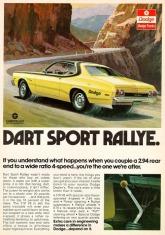 1974 - Pubblicità Dodge Sport Rally