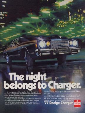 1977, pubblicità Dodge Charger