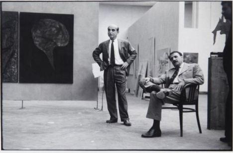 Carlo Cardazzo e Lucio Fontana, 1958. Fotografia di Ugo Mulas