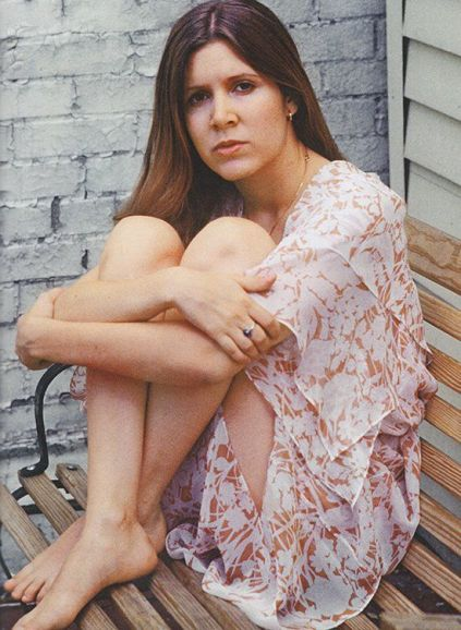 Carrie Fisher nella sua casa di New York City nel 1977
