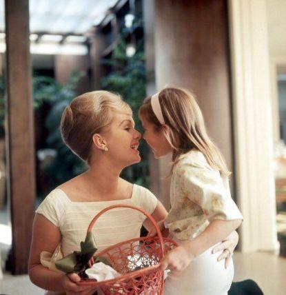 Debbie Reynolds e Carrie Fisher, 1960