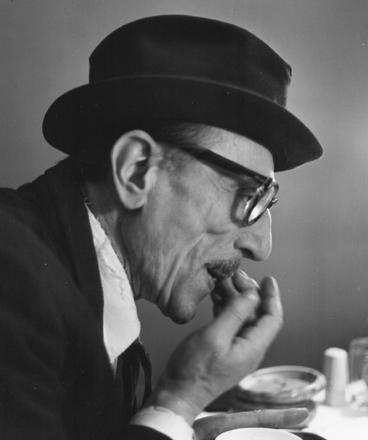 Eduardo De Filippo, 1961. Fotografia di Ugo Mulas