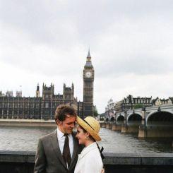 Elizabeth Taylor e Richard Burton a Londra. Fotografia di Milton Greene