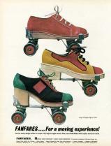 Fanfares roller shoes, 1972
