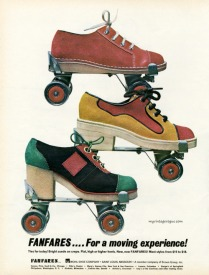 Fanfares roller shoes, 1972