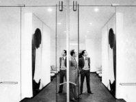 Foto di Ugo Mulas a Fantoni e Gerli con Fontana