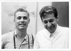 Giulio Turcato con Ugo Mulas alla Biennale di Venezia