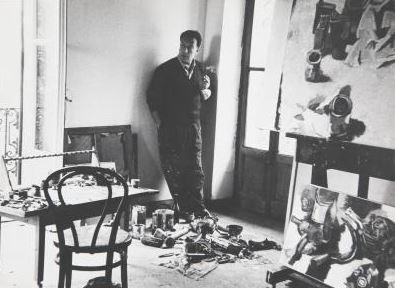 Guttuso a Velate , 1961. Fotografia di Ugo Mulas