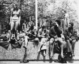 Hippies in Washington Square Park, 1968. NYC