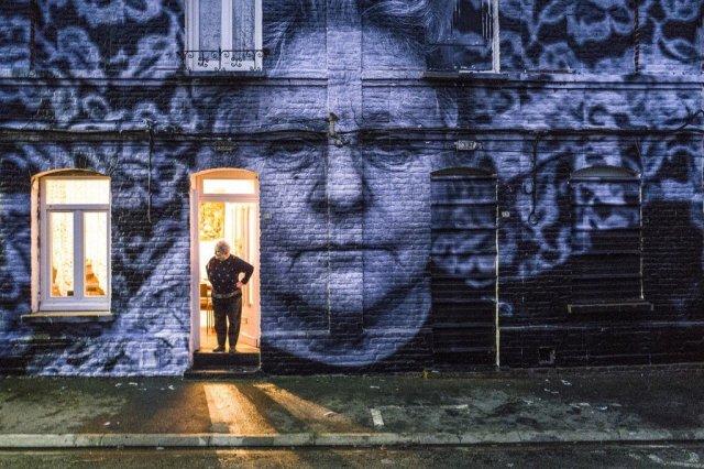 JR art for Agnès Varda