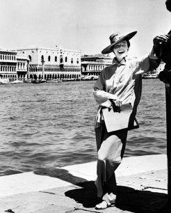 Katharine Hepburn a Venezia per le riprese di Summertime (1955)
