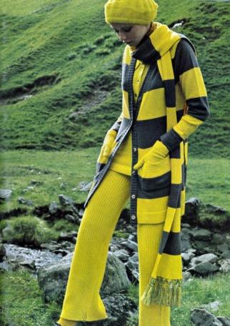 Maudie James fotografata da Elizabeth Novick per Vogue UK 1969