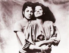 Michael Jackson e Diana Ross. 1980