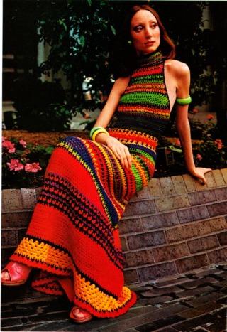 Moda abito in uncinetto, 1970