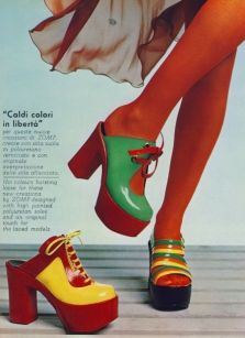Moda scarpe 1970