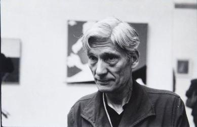 Osvaldo Licini nella sua sala , 1958. Fotografia di Ugo Mulas