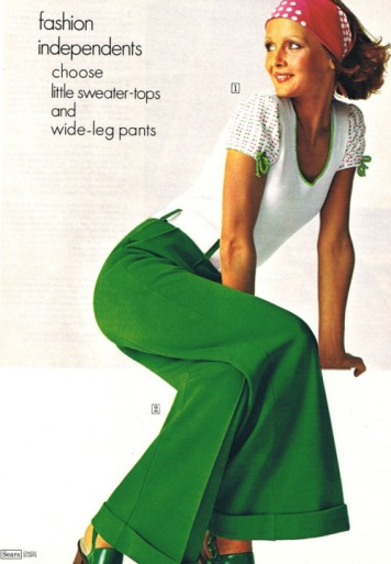 Pantaloni a campana by Sears, 1973
