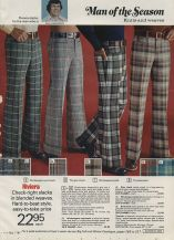 Pantaloni da uomo nel catalogo di Natale della Eaton, 1973