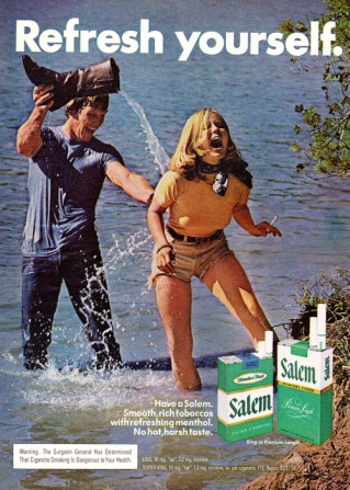 Pubblicità sigarette Salem, 1974