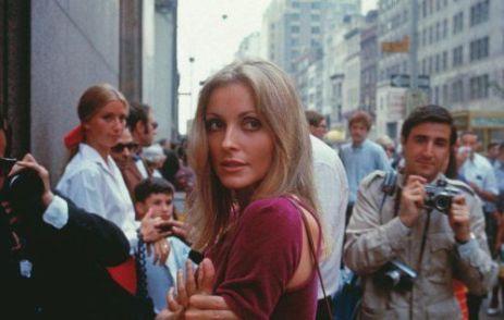 Sharon Tate visita il set di 'Rosemary Baby' il 28 agosto 1967 a New York City. Foto di Santi Visalli