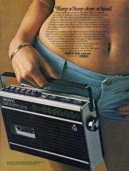 SONY CF-200A combinazione Cassette Corder pubblicità 1970