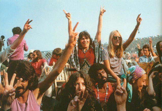 Stile Hippie al Festival dell'Isola di Wight, 1969