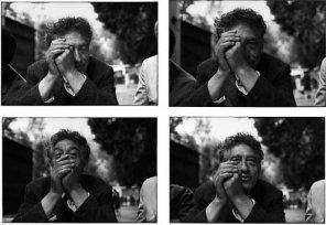 Ugo Mulas Alberto Giacometti riceve l'annuncio di aver vinto il Gran premio XXXI Biennale Internazionale d'Arte, 1962 © estate Ugo Mulas Tutti i diritti riservati