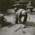 Ugo Mulas – David Smith in his Voltri studio by ugo mulas, Voltri 1962