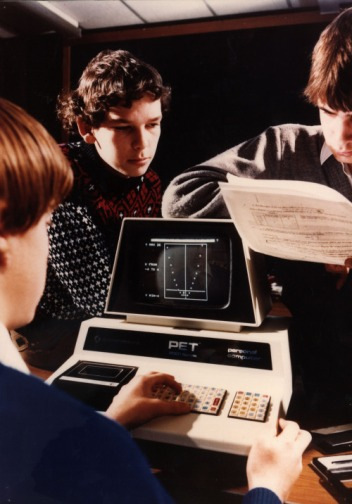 Un Commodore PET (Personal Electronic Transactor) personal computer, Washington, UK, 1977