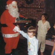 Un giovane Kurt Cobain incontra Babbo Natale