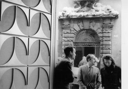 V. Borsani, M. Fantoni e Arch. Gerli fotografati da Ugo Mulas