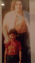 Andre The Giant in posa con Dwayne 'The Rock' Johnson