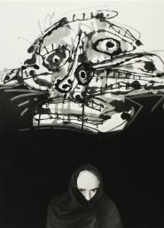 Antonio Saura, ca. 1960. Fotografia di Ugo Mulas