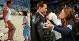 Arnold Schwarzenegger e Alyssa Milano 28 anni dopo