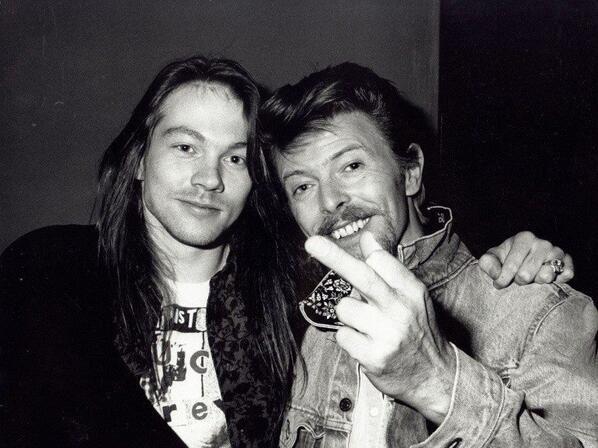 Axl Rose e David Bowie