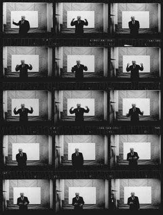 Barnett Newman, New York, 1964, from a contact sheet