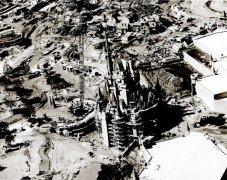 Castello di Cenerentola di Walt Disney World in fase di costruzione 1969